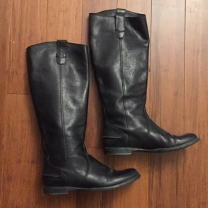 Jcrew extended calf size 6.5 leather boots